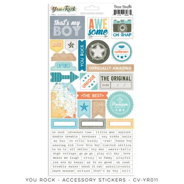 Cocoa Vanilla Studio - You Rock 6x12 Accessory Stickers