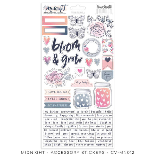 Cocoa Vanilla Studio - Midnight Accessory Stickers