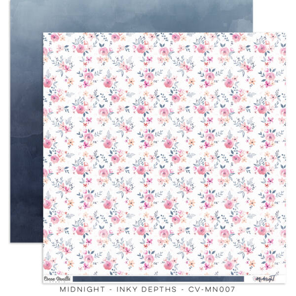 Cocoa Vanilla Studio - Midnight 12x12 Paper - Inky Depths