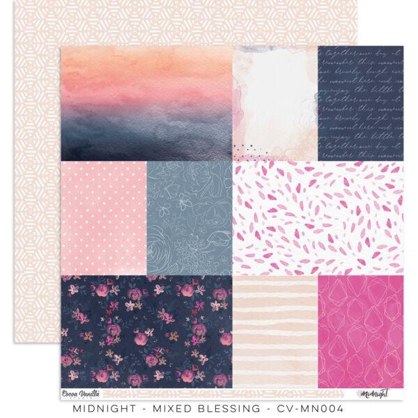 Cocoa Vanilla Studio - Midnight 12x12 Paper - Mixed Blessing