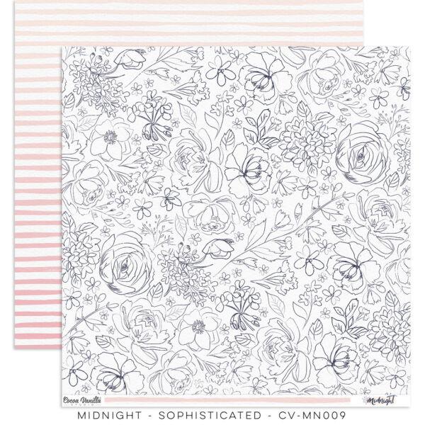 Cocoa Vanilla Studio - Midnight 12x12 Paper - Sophisticated