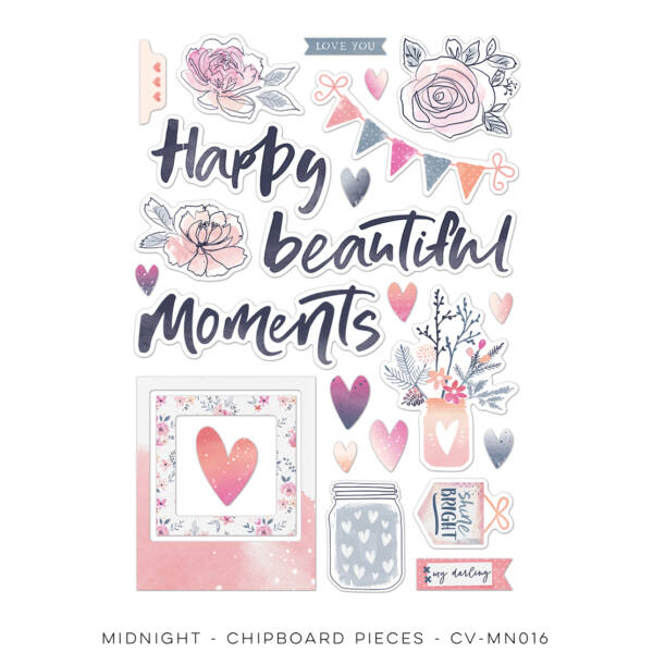 Cocoa Vanilla Studio - Midnight Chipboard Accents Pack