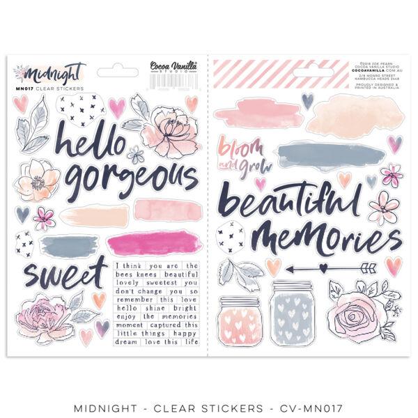 Cocoa Vanilla Studio - Midnight Clear Stickers
