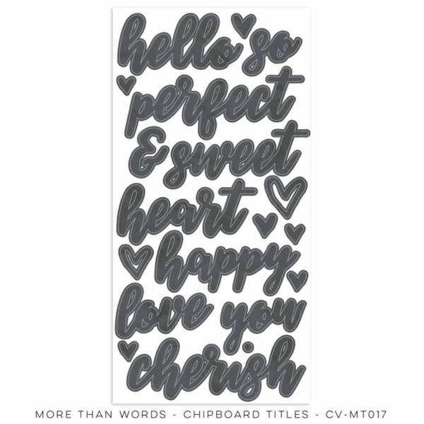 Cocoa Vanilla Studio - More Than Words Chipboard Title