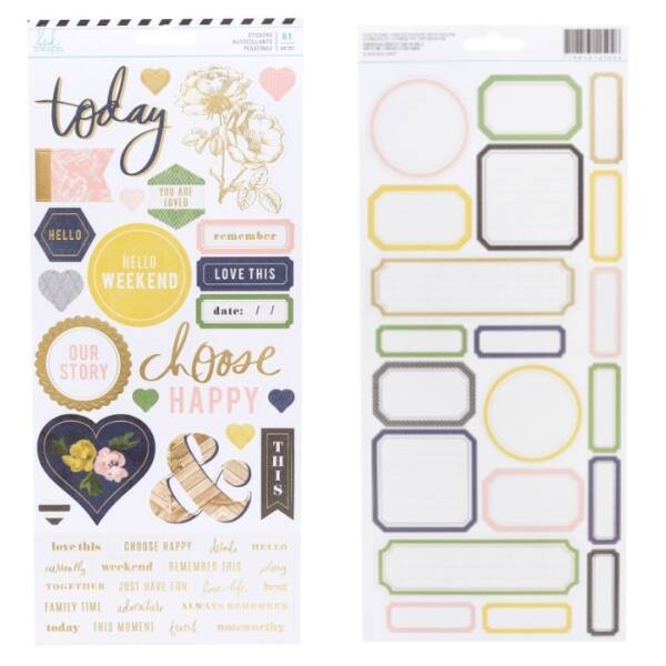 Heidi Swapp - Emerson Lane - 6x12 Cardstock Stickers (61 Piece)