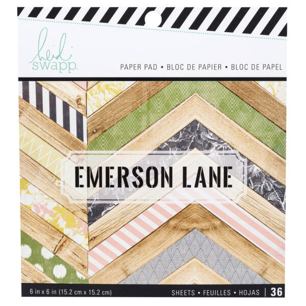 Heidi Swapp - Emerson Lane 6x6 Paper Pad 36 Sheets