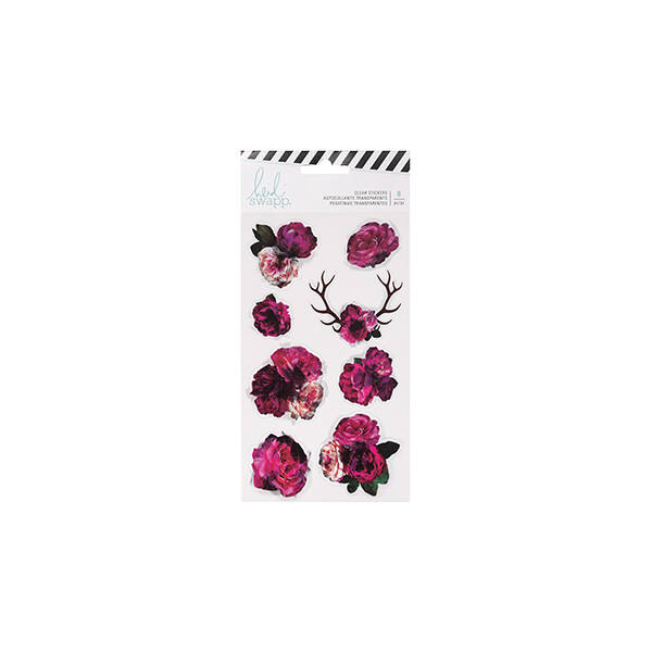 Heidi Swapp - Hawthorne Clear Floral Stickers