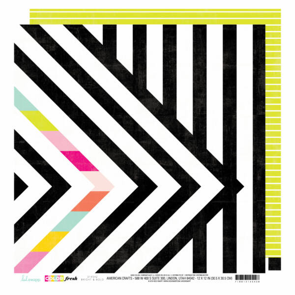 Heidi Swapp - Color Fresh 12x12 Patterned Paper - Bright and Bold