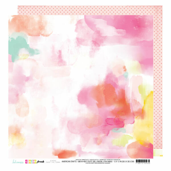 Heidi Swapp - Color Fresh 12x12 Patterned Paper - Paint The Town