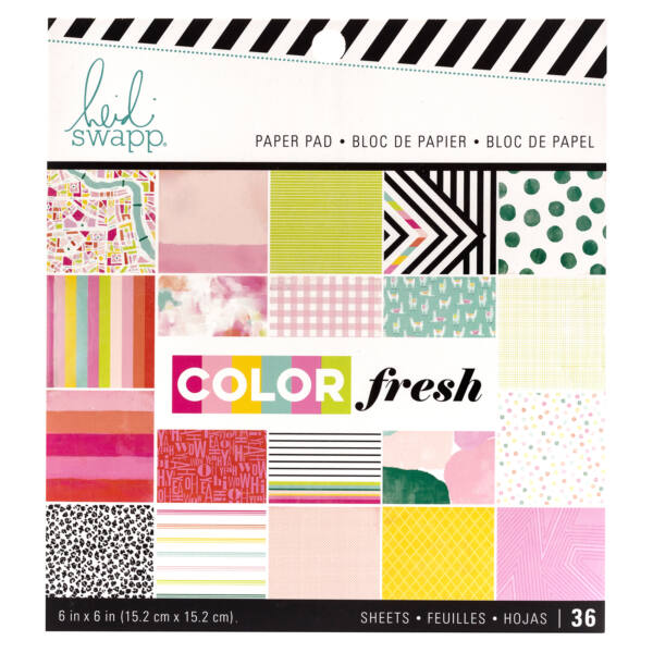 Heidi Swapp - Color Fresh 6x6 Paper Pad (36 Sheets)