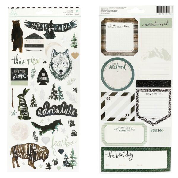 Heidi Swapp - Wolf Pack 6x12 Cardstock Stickers (53 Piece)