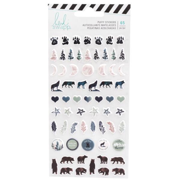 Heidi Swapp - Wolf Pack Puffy Stickers (65 Piece)