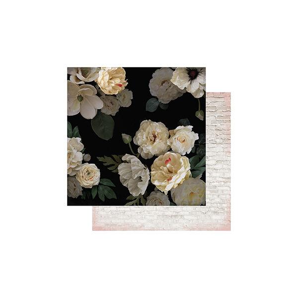 Heidi Swapp - Magnolia Jane 12x12 Double Sided Paper - Magnolia