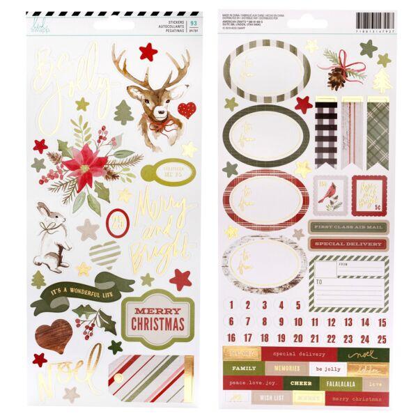 Heidi Swapp - Winter Wonderland 6x12 Cardstock Sticker (93 Piece)