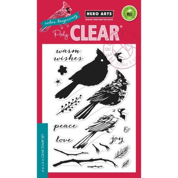 Hero Arts Color Layering Cardinal Clear Stamps