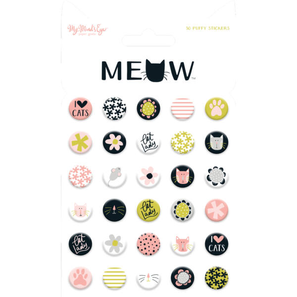 My Mind's Eye - Meow Puffy Stickers