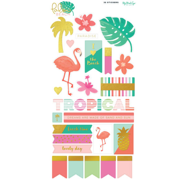 My Mind's Eye - Palm Beach 6 x 12 Sticker Sheet