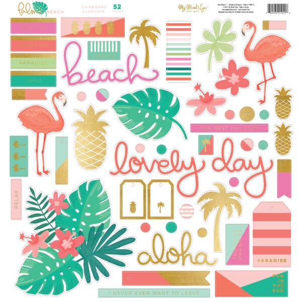 My Mind's Eye - Palm Beach Chipboard