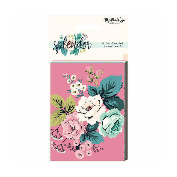 My Mind's Eye - Splendor Double-Sided Journal Cards (24 Pieces)