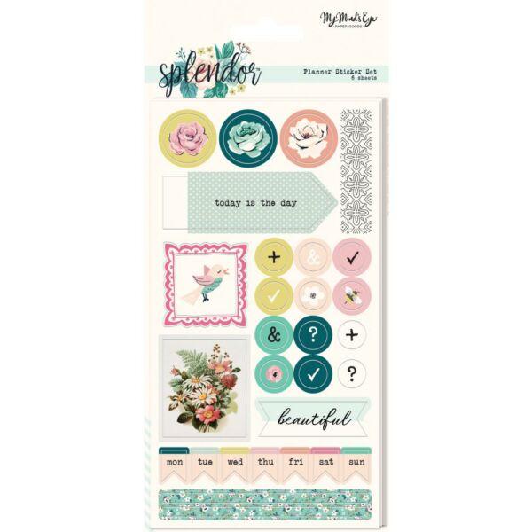 My Mind's Eye - Splendor Planner Sticker Set (6 Sheet)