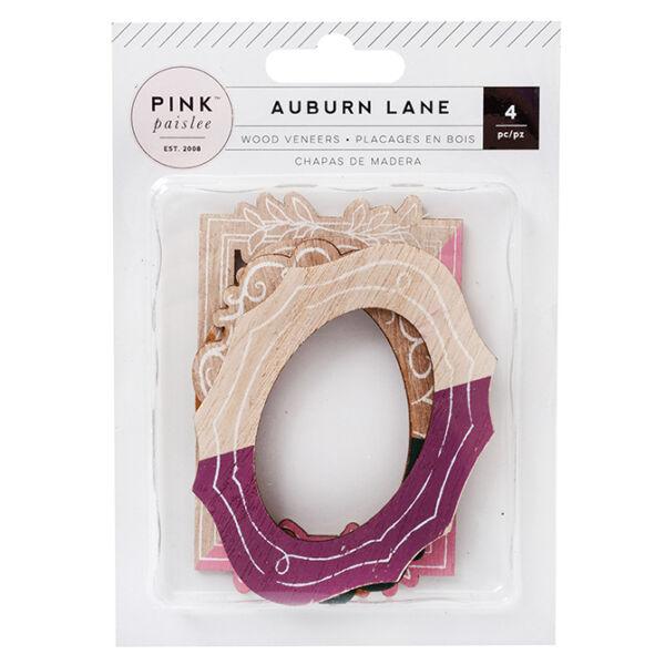 Pink Paislee - Auburn Lane Wood Veneer Frames