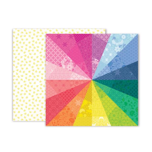 Pink Paislee - Paige Evans - Horizon 12x12 Patterned Paper - 3