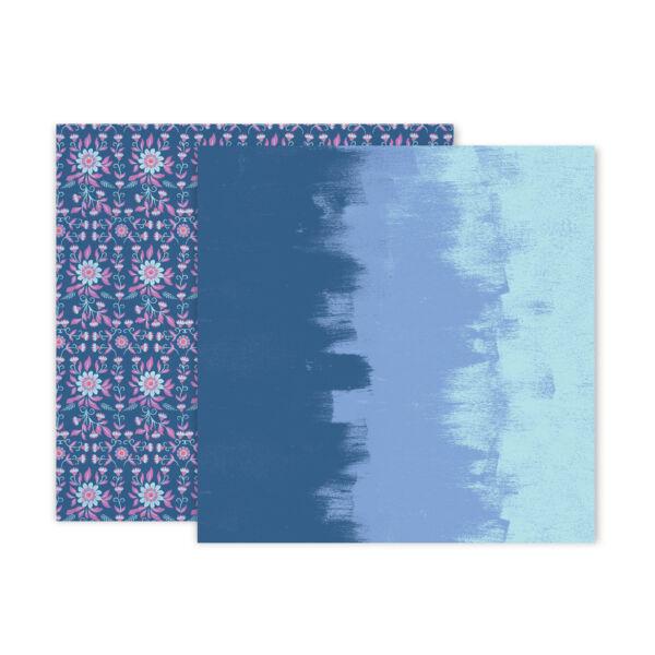 Pink Paislee - Paige Evans - Horizon 12x12 Patterned Paper - 6