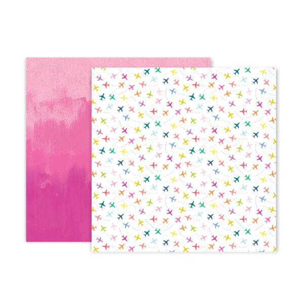 Pink Paislee - Paige Evans - Horizon 12x12 Patterned Paper - 9