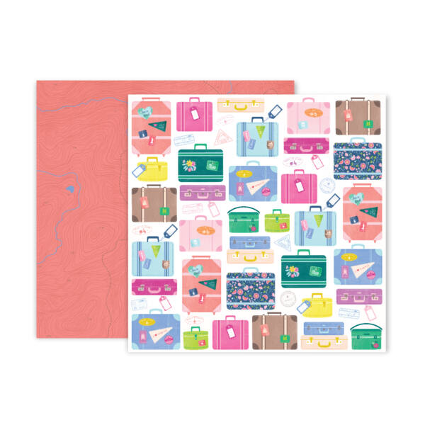 Pink Paislee - Paige Evans - Horizon 12x12 Patterned Paper - 17