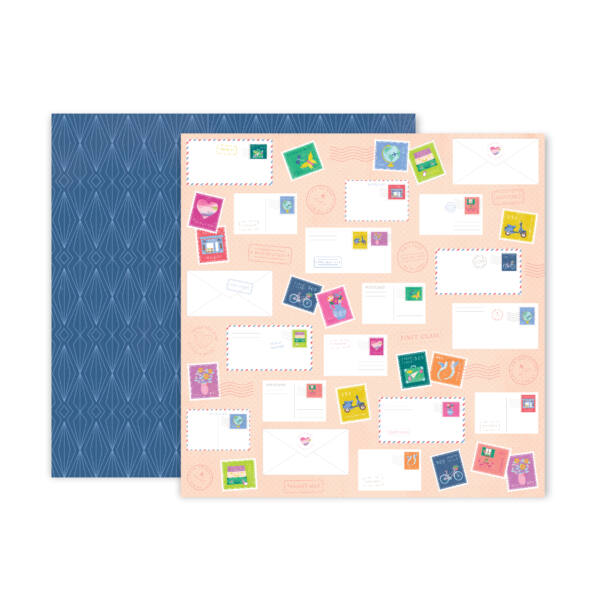 Pink Paislee - Paige Evans - Horizon 12x12 Patterned Paper - 22
