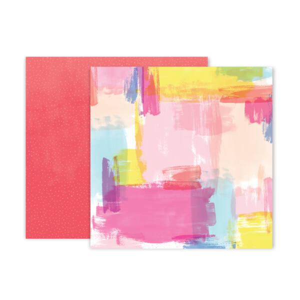 Pink Paislee - Paige Evans - Horizon 12x12 Patterned Paper - 24