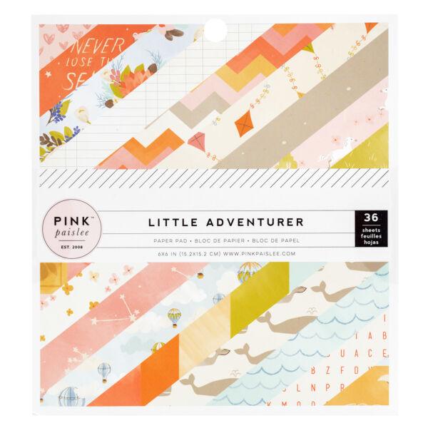 Pink Paislee - Little Adventurer 6x6 Paper Pads - Girl (36 Sheets)
