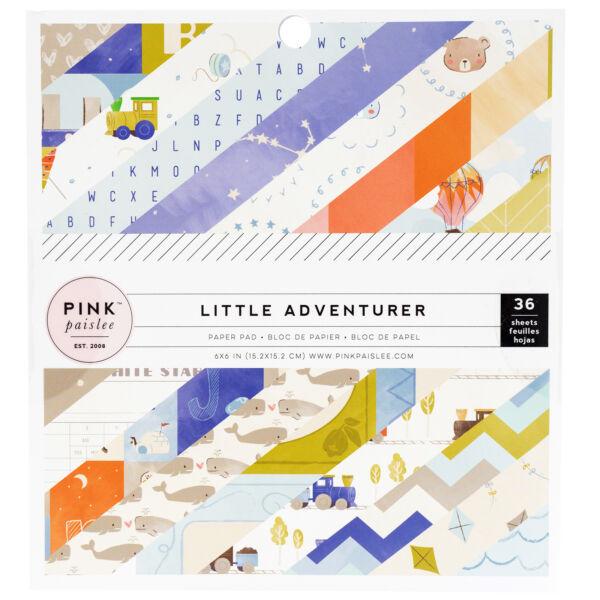Pink Paislee - Little Adventurer 6x6 Paper Pads - Boy (36 Sheets)