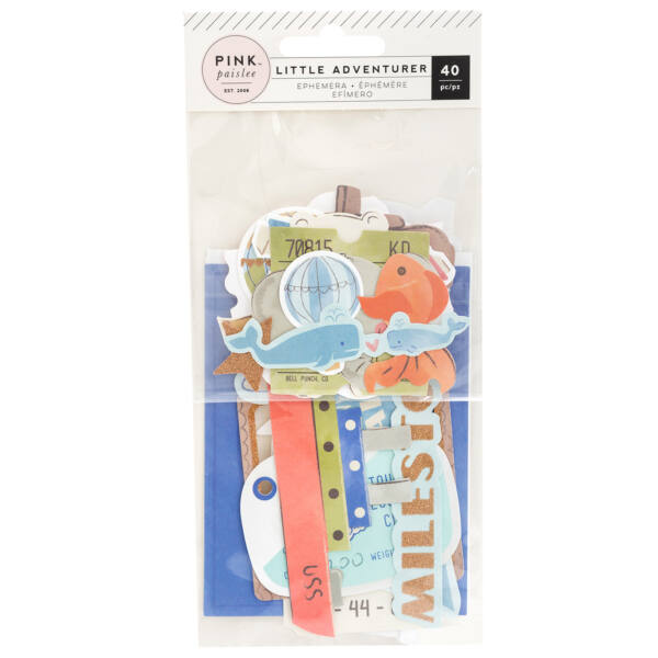 Pink Paislee - Little Adventurer Ephemera - Boy (40 piece)