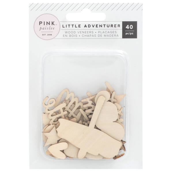 Pink Paislee - Little Adventurer Wood Veneers (40 Piece)