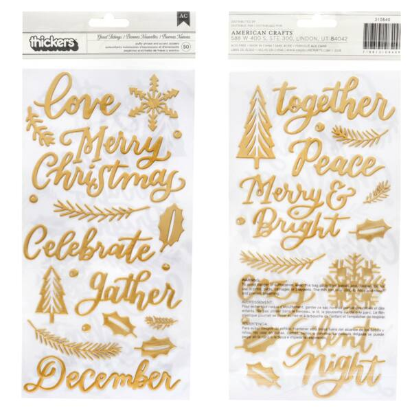 Pink Paislee - Together For Christmas Word Thickers (50 Piece)