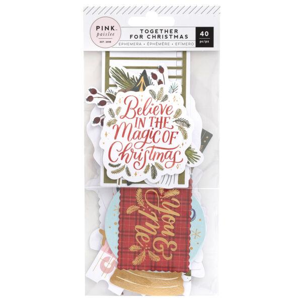 Pink Paislee - Together For Christmas Ephemera (40 Piece)