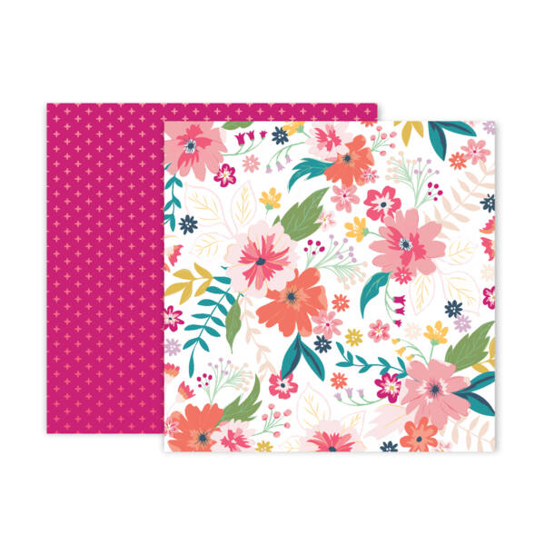 Pink Paislee - Paige Evans Whimsical 12x12 Patterned Paper 03