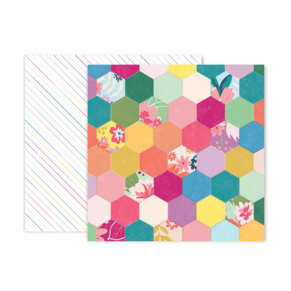 Pink Paislee - Paige Evans Whimsical 12x12 Patterned Paper 05