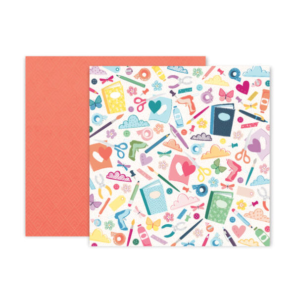 Pink Paislee - Paige Evans Whimsical 12x12 Patterned Paper 06