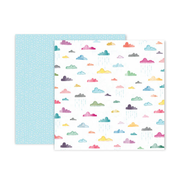 Pink Paislee - Paige Evans Whimsical 12x12 Patterned Paper 15