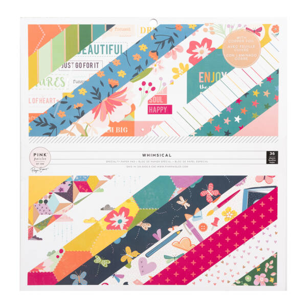Pink Paislee - Paige Evans Whimsical 12x12 Paper Pad 36 Sheets