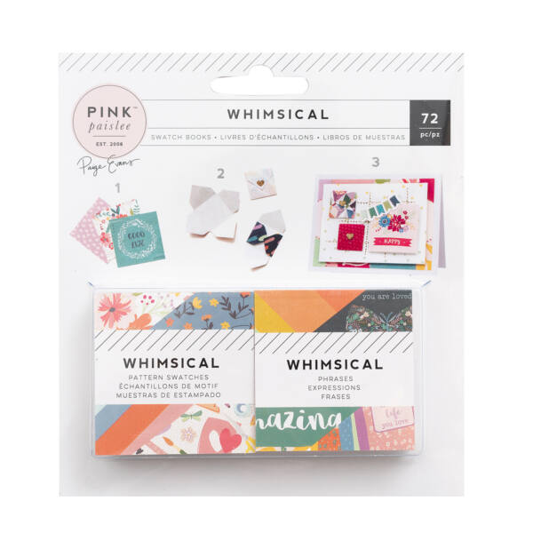 Pink Paislee - Paige Evans Whimsical 2x2 Mini Swatch Books 72 Sheets