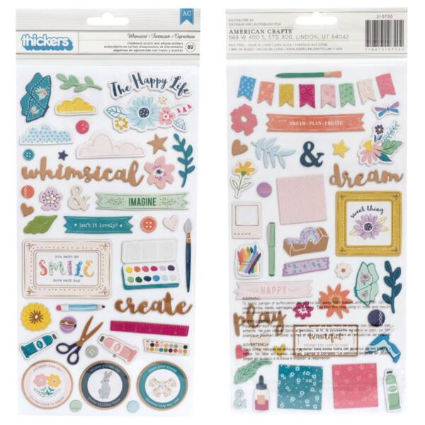 Pink Paislee - Paige Evans Whimsical Chipboard Icon - Whimsical (89 Piece)