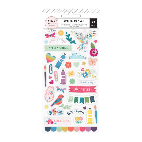 Pink Paislee - Paige Evans Whimsical Puffy Stickers (42 Piece)