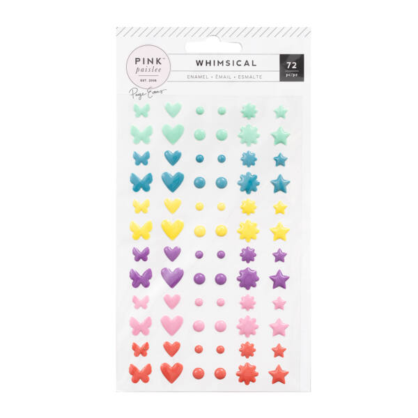 Pink Paislee - Paige Evans Whimsical Enamel Shapes (72 Piece)