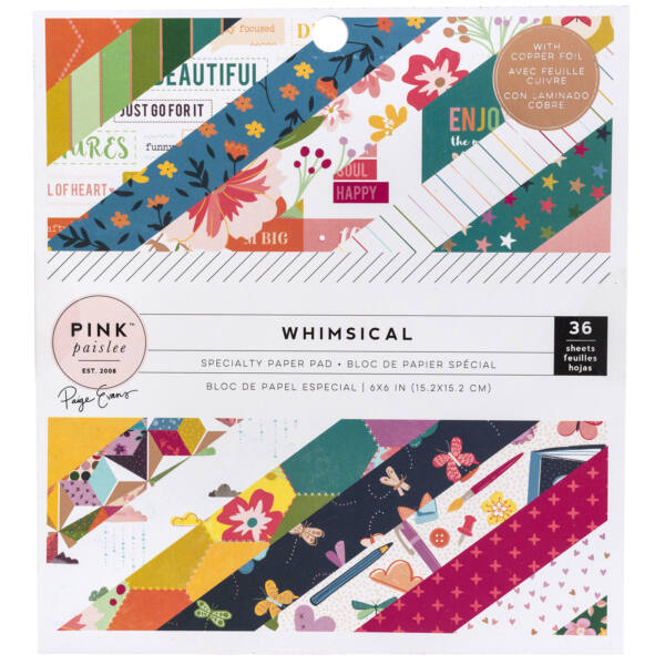 Pink Paislee - Paige Evans Whimsical 6x6 Paper Pad 36 Sheets