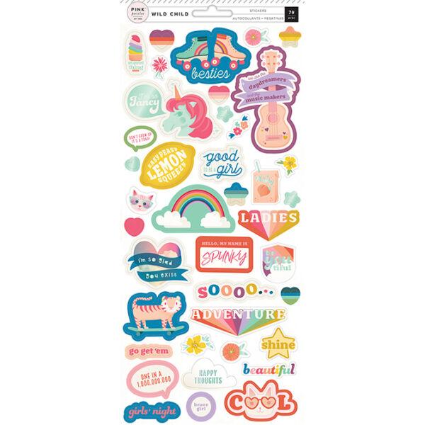 Pink Paislee - Wild Child 6x12 Stickers - Girl