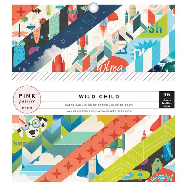 Pink Paislee - Wild Child 6x6 Paper Pad - Boy