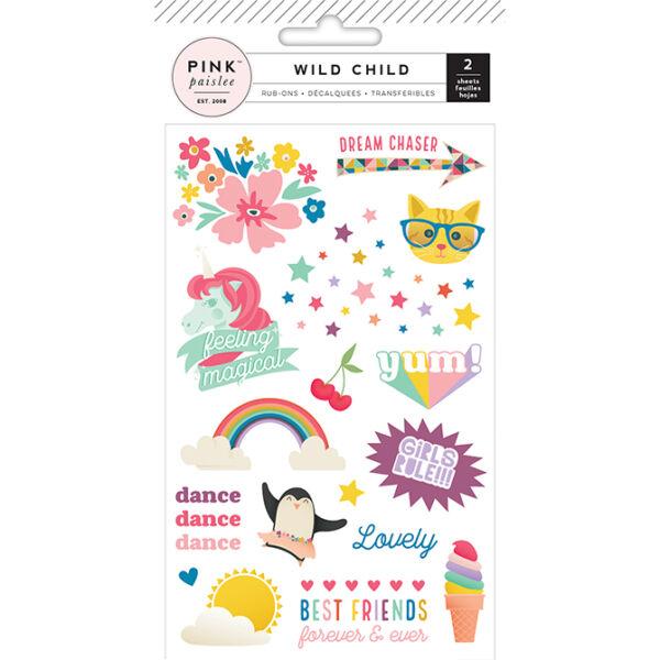 Pink Paislee - Wild Child Rub-Ons - Girl